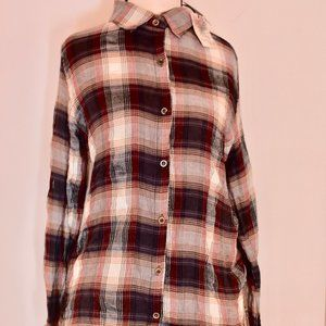 NWT About a Girl Flannel Shirt Size Large